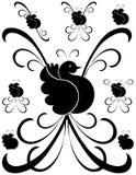 Art de fantaisie 2 de décorations d'oiseau illustration stock