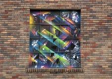Art de fenêtre dans Ellum profond, Dallas, le Texas photo stock