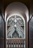 Art de fenêtre thaïlandaise de style au temple Photographie stock libre de droits