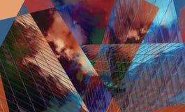 Art de fond de Digital fait avec la technique de collage de photo illustration de vecteur