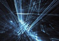 Art de fractale - image d'ordinateur, fond technologique Photos stock