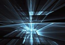 Art de fractale - image d'ordinateur, fond technologique Photo stock