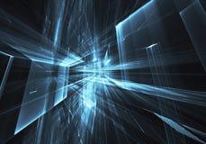 Art de fractale - image d'ordinateur, fond technologique Image libre de droits