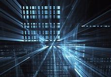 Art de fractale - image d'ordinateur, fond technologique Photographie stock libre de droits