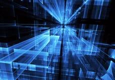 Art de fractale - image d'ordinateur, fond technologique Photographie stock