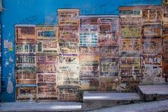 Art de graffiti au central, Hong Kong images libres de droits