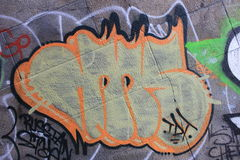 Art de graffiti au pont de Manhattan, New York Photo libre de droits