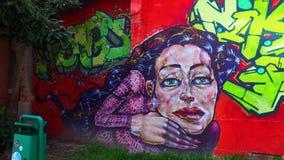 Art de graffiti en capitale de Croate de Zagreb banque de vidéos