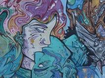 Art de graffiti, mur à San Juan, Porto Rico Image libre de droits
