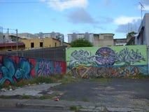Art de graffiti, mur à San Juan, Porto Rico Photo stock