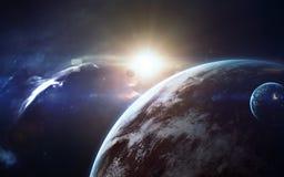 Art de la science-fiction Beauté d'espace lointain Éléments de cette image meublés par la NASA Photos stock