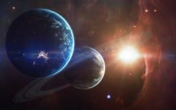 Art de la science-fiction Beauté d'espace lointain Éléments de cette image meublés par la NASA Photo libre de droits