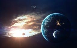 Art de la science-fiction Beauté d'espace lointain Éléments de cette image meublés par la NASA Image stock