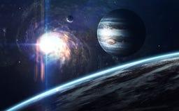 Art de la science-fiction Beauté d'espace lointain Éléments de cette image meublés par la NASA Photo stock