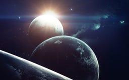 Art de la science-fiction Beauté d'espace lointain Éléments de cette image meublés par la NASA Photographie stock