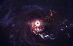 Art de la science-fiction Beauté d'espace lointain Éléments de cette image meublés par la NASA Images stock