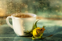 Art de la vie de Rose et de tasse toujours Images stock