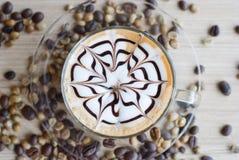 Art de Latte photo stock