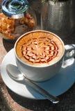Art de Latte Photographie stock libre de droits