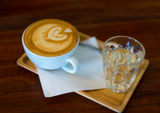 Art de Latte photo stock