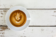 Art de Latte Image stock