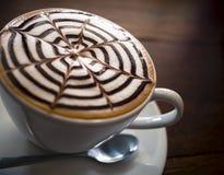 Art de Latte dans le petit déjeuner de matin Images stock
