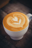 Art de latte de café Photographie stock