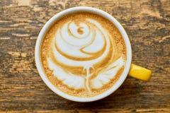 Art de latte de Rose, vue supérieure photo libre de droits