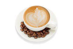 Art de Latte Photos stock