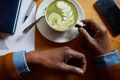 Art de Latte image stock