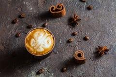 Art de latte de papillon Photos stock