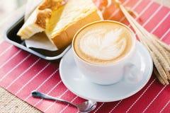 Art de Latte de tasse de caf? images stock