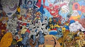 Art de mosaïque de bandes dessinées Photos libres de droits