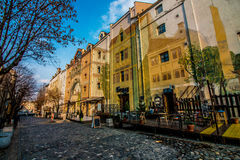 Art de mur à Belgrade photographie stock