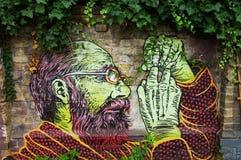 Art de mur Images libres de droits