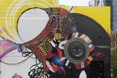 Art de mur, Boston le Massachusetts, septembre 2014 Photos libres de droits