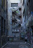 Art de mur d'allée de Melbourne photos stock