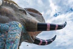 Art de mur de mosaïque d'éléphant Photos libres de droits