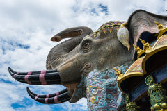 Art de mur de mosaïque d'éléphant Photo stock