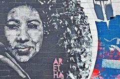 Art de mur sur Livernois à Detroit Photos libres de droits