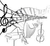 Art de musique Images libres de droits