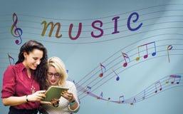 Art de note de musique de concept instrumental sain Images stock