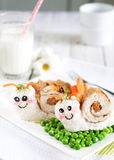 Art de nourriture d'escargots Photo libre de droits