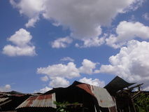Art de nuage Image libre de droits