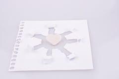 Art de papier avec le coeur Image stock