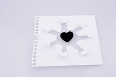 Art de papier avec le coeur Photo libre de droits