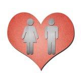 Art de papier d'amour sur le blanc Image libre de droits