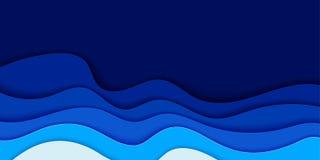 Art de papier de jour d'océans du monde illustration stock