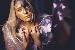 Art de papillon de fille Image libre de droits