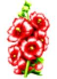 Art de pixel avec des fleurs Photographie stock